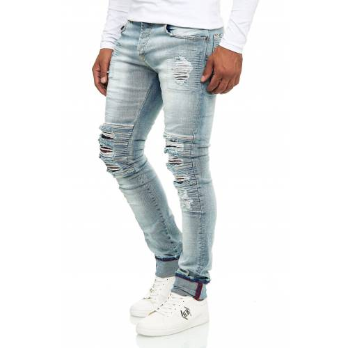 KINGZ Bequeme Jeans im Destroyed-Look