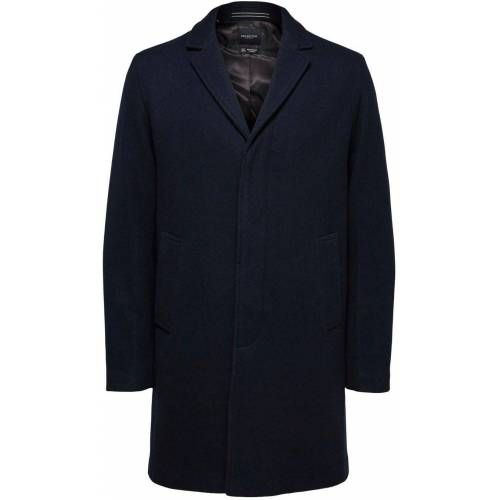 SELECTED HOMME Wollmantel »HAGEN WOOL COAT«, anthrazit