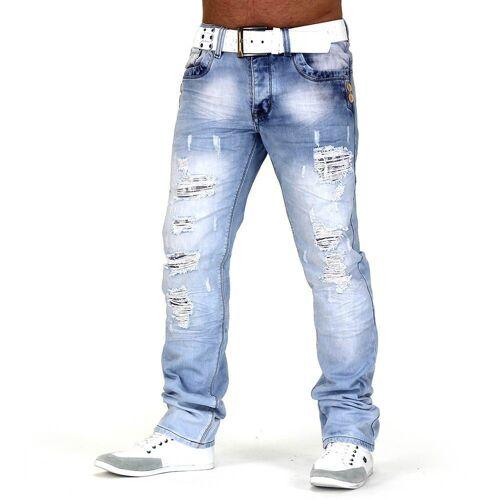 Egomaxx Regular-fit-Jeans »661« Jeans Jeansnet Look Buff