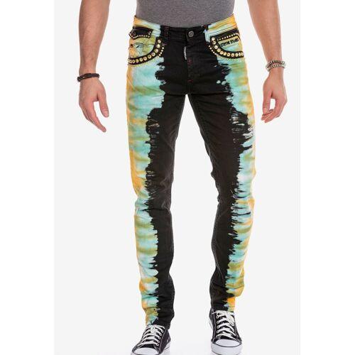 Cipo & Baxx Slim-fit-Jeans im extravaganten Look