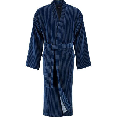 Cawö Bademantel, , Kimono Form, 11 blau