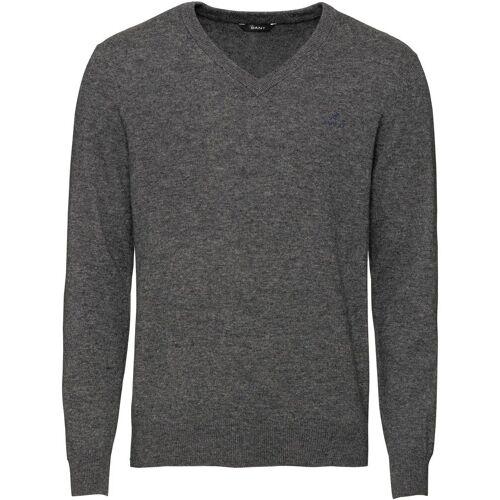 Gant Strickpullover »V-Pullover«, Dunkelgrau   Dunkelgrau