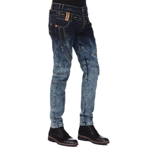 Cipo & Baxx Bequeme Jeans mit stylischem Doppelbund