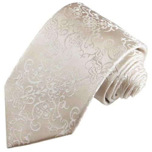 Paul Malone Krawatte »Bräutigam Hochzeitskrawatte 100% Seide Hochzeit Schlips« Schmal (6cm), ivory wollweiß 2116