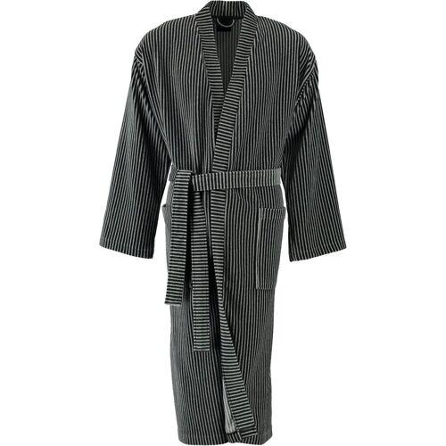 Cawö Bademantel, , Kimono Form, 77 grau