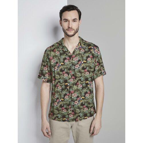 TOM TAILOR Hawaiihemd »Kurzarm-Hawaiihemd mit tropischem Print«