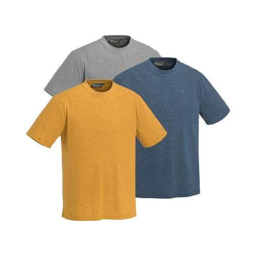Pinewood T-Shirt »T-Shirts, 3er-Pack«, Blau/Grau/Senf   Blau/Grau/Senf   Blau/Grau/Senf   Blau/Grau/Senf