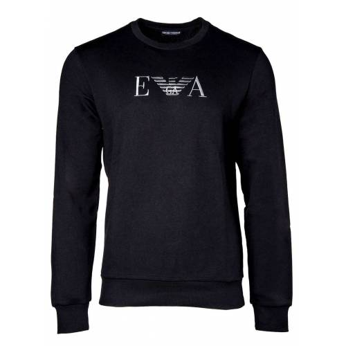Giorgio Armani Emporio Armani T-Shirt »Sweatshirt - Rundhals-Sweater, Pullover, Logo«, Blau