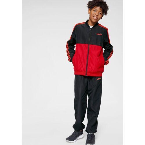 Adidas Performance Trainingsanzug »YOUTH BOY TRACKSUIT WOVEN« (Set, 2-tlg), schwarz-rot