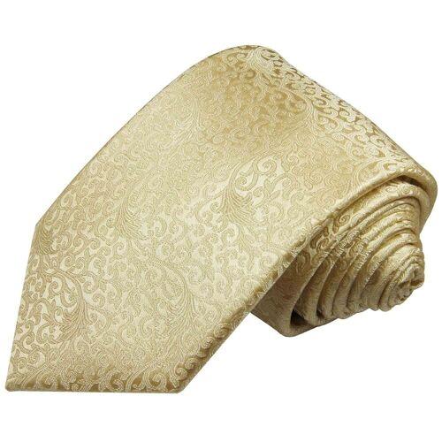 Paul Malone Krawatte »Herren Hochzeitskrawatte floral 100% Seide Bräutigam Hochzeit Schlips« Schmal (6cm), creme 2096, creme