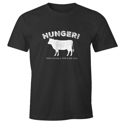 MoonWorks Print-Shirt »Herren T-Shirt Hunger! Man schäle mir eine Kuh. lustiges Spruch Fun-Shirt ®« mit Print