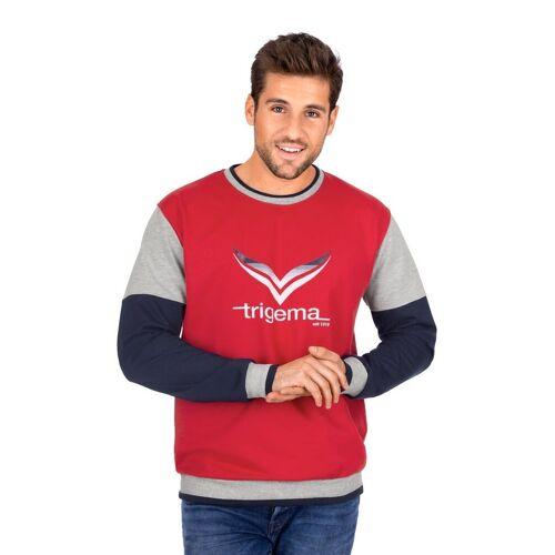 Trigema Sweatshirt mit -Logo, kirsch