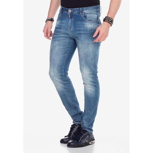 Cipo & Baxx Slim-fit-Jeans mit verwaschenen Look