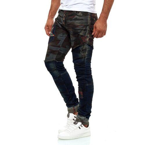 KINGZ Slim-fit-Jeans im Army-Look