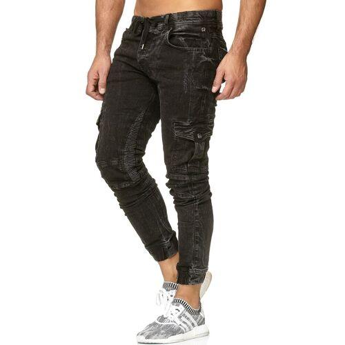 RedBridge Slim-fit-Jeans im Used-Look, schwarz