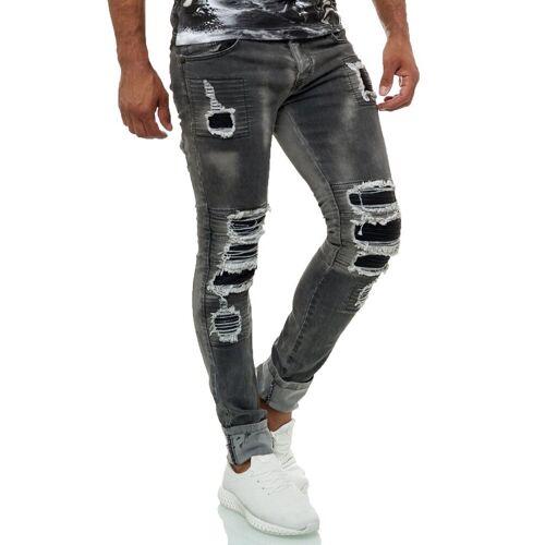 KINGZ Bequeme Jeans im lässigen Biker Look