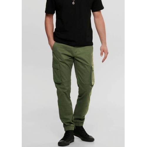ONLY & SONS Cargohose »CAM STAGE CARGO CUFF«, olivgrün