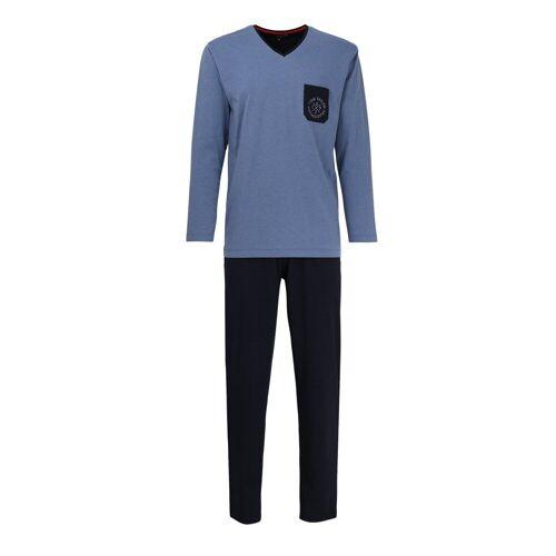TOM TAILOR Pyjama »Herren Schlafanzug 2-tlg. Set - lang,«