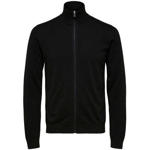 SELECTED HOMME Cardigan »Berg Full Zip Cardigan«, schwarz