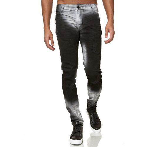 KINGZ Slim-fit-Jeans im verwaschenen Look
