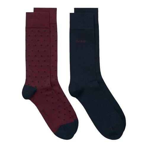 Gant Kurzsocken »Herren Socken, 2er Pack - Solid and Dot Socks,One«, Rot