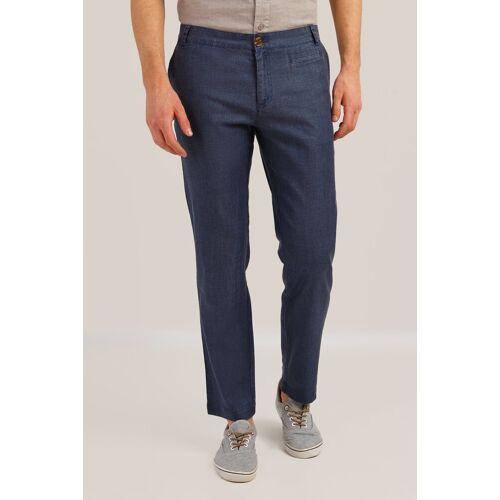 Finn Flare Stoffhose mit geradem Bein, dunkelblau