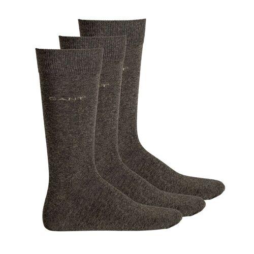 Gant Kurzsocken »Herren Socken, 3er Pack - Soft Cotton Socks,«, Grau
