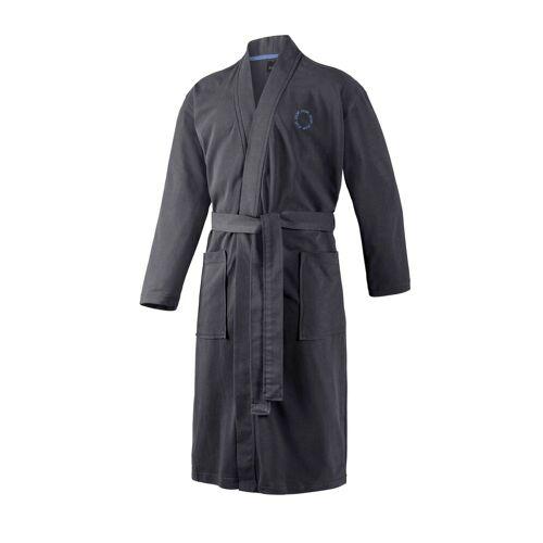Joop! Bademantel »Herren Bademantel - Kimono, Logo, Baumwolle«, , Grau