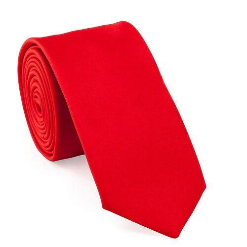 UNA Krawatte »Krawatte - Plain - 6cm - Seide«, rot (43)