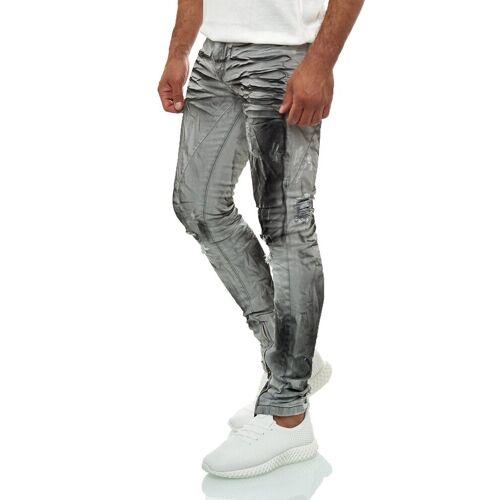 KINGZ Bequeme Jeans mit Batik-Waschung