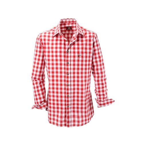 OS-Trachten Trachtenhemd, rot