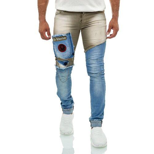 KINGZ Bequeme Jeans mit feinen Akzenten