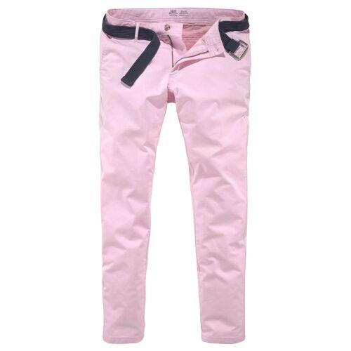 IZOD Chinohose (mit abnehmbarem Gürtel), pink