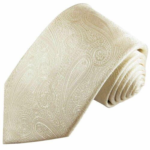 Paul Malone Krawatte »Herren Hochzeitskrawatte paisley 100% Seide Bräutigam Hochzeit Schlips« Schmal (6cm), champagner 2115, champagner