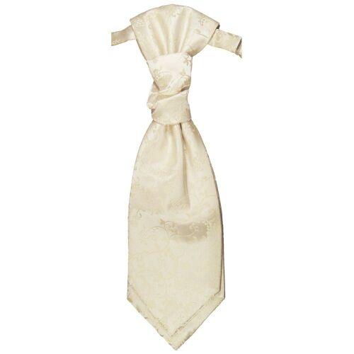 Paul Malone Krawatte »Elegantes Herren Plastron floral Hochzeitskrawatte - vorgebunden - Bräutigam Hochzeitsmode« champagner v18, champagner