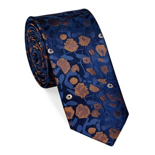 UNA Krawatte »Krawatte - Fiori - 6cm - Seide«, cognac (27)