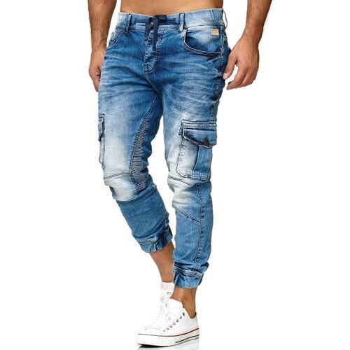 RedBridge Slim-fit-Jeans im Used-Look, blau-denim