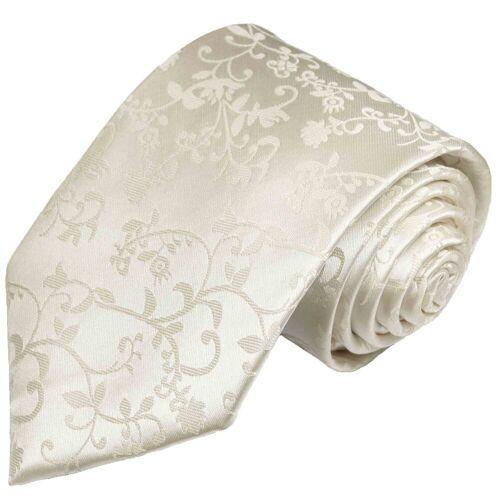 Paul Malone Krawatte »Herren Hochzeitskrawatte floral 100% Seide Bräutigam Hochzeit Schlips« Schmal (6cm), ivory 930, ivory