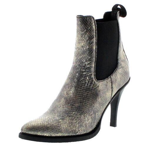FB Fashion Boots »EVA II Oro Damen Stiefelette Stilettos Gold« Stiefelette