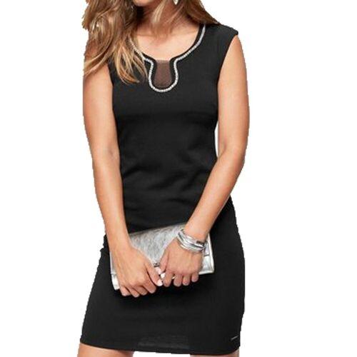 Bruno Banani Cocktailkleid »Mini-Kleid elegantes Damen Jersey-Kleid mit Strass-Details Cocktail-Kleid Schwarz«