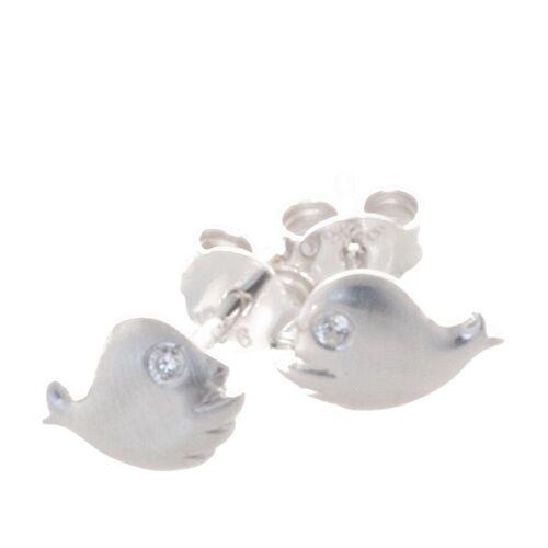 Bella Carina Paar Ohrstecker »Ohrstecker Wal Fisch«, 925 Silber