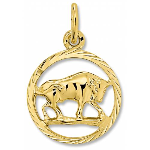 ONE ELEMENT Sternzeichenanhänger »Sternzeichen Anhänger Stier aus 333 Gelbgold«