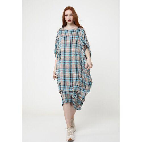 MaDam-T Maxikleid »Kleid Alunessa«, sandfarben, hellblau