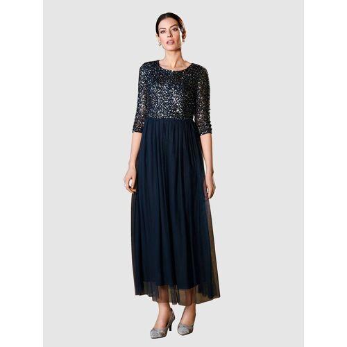 Paola Abendkleid mit Pailletten, Marineblau