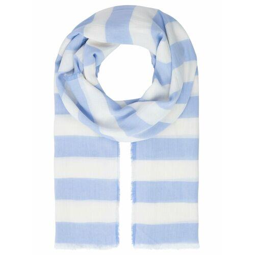 Apart Schal mit Streifen, hellblau-weiß
