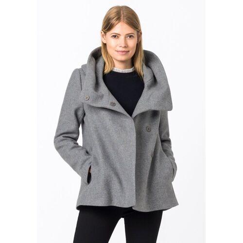 HALLHUBER Winterjacke »mit Volumenkragen aus recycelter Wolle«