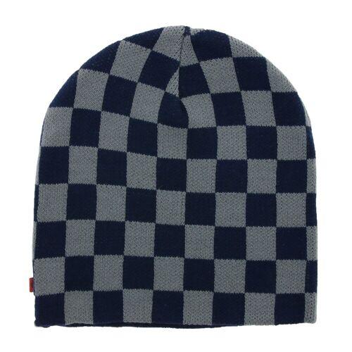 C3 Beanie »Beanie Retro Skater-Mütze Strick-Mütze Winter-Mütze Navy/Grau«