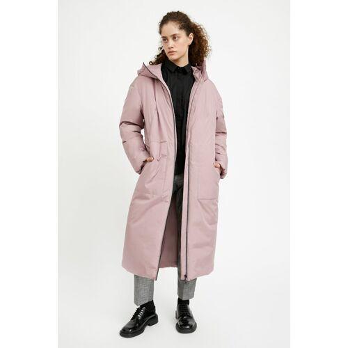 Finn Flare Kurzmantel in geradem Schnitt, grau-rosa