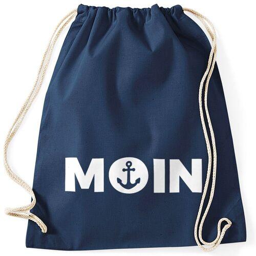 MoonWorks Turnbeutel »Cooler Turnbeutel Moin mit Anker ®«, navy