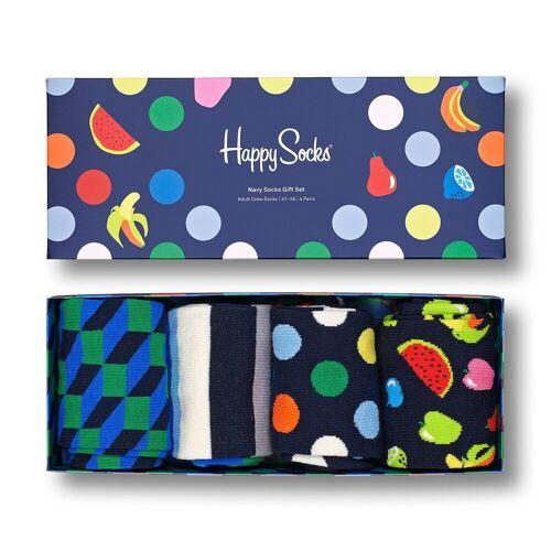 Happy Socks Langsocken »Navy Geschenk Box 4 Paar Socken« (4-Paar)
